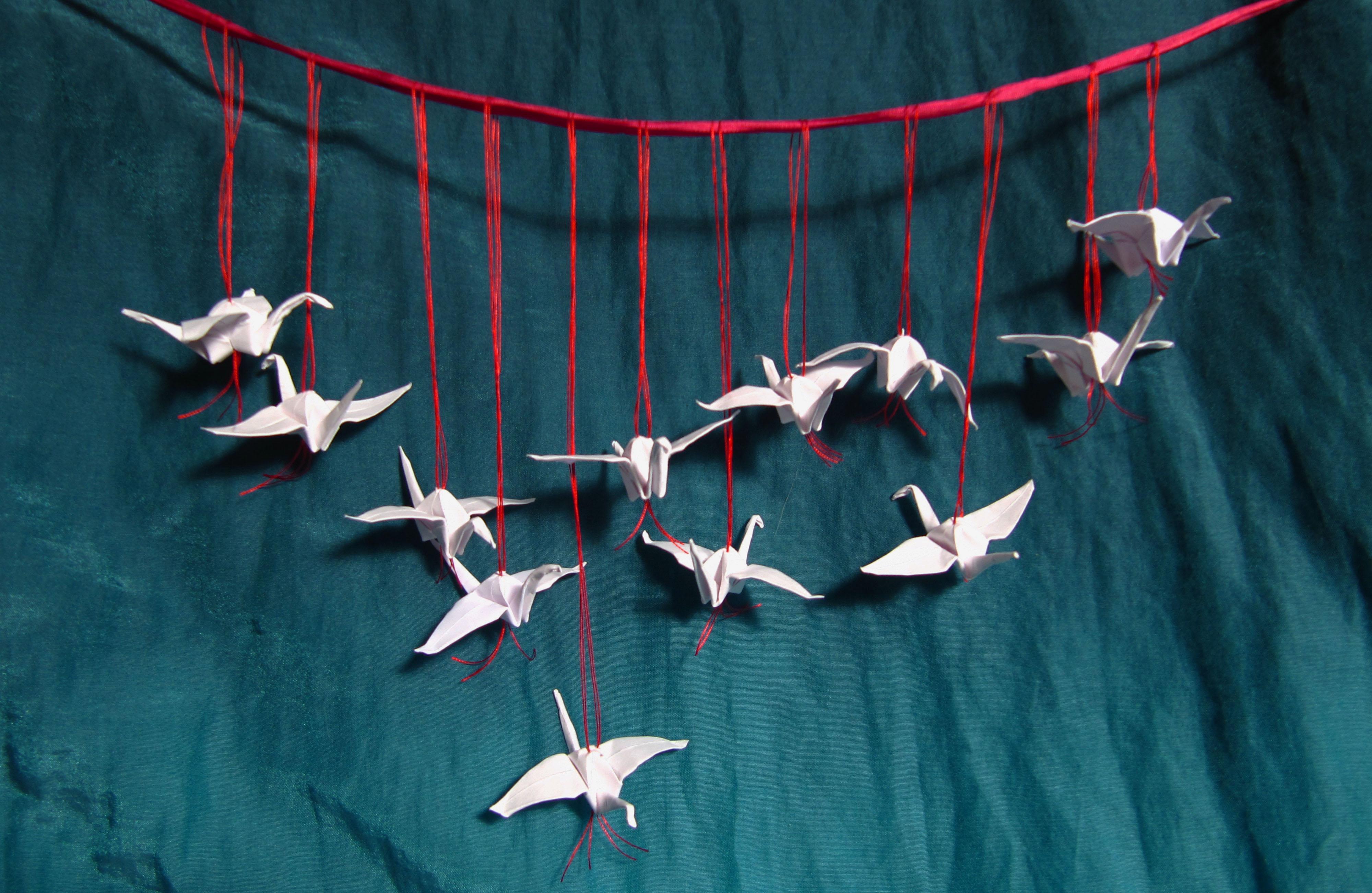 Twelve Tiny Soaring Cranes A Woman A Day