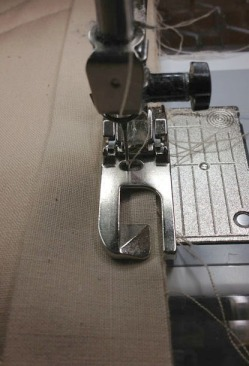 Sewing binding on top